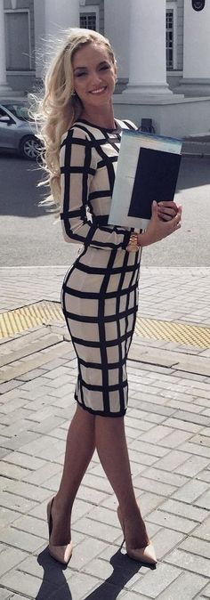 Fashion, Style, Dress, Stripes, Spring