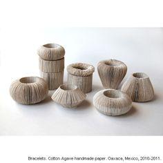 Bracelets Cotton agave handmade paper by Kiff Slemmons