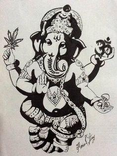 black and white Ganesh                                                                                                                                                                                 Plus