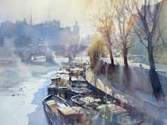 Frosty day over Seine, 52x72 cm Reserved