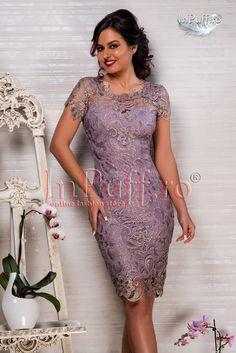 Rochie de seara dantela lila