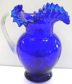 Cobalt Blue Murano Pitcher
