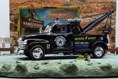 1:38 KINSMART 1953 CHEVROLET 3100 WRECKER TOW TRUCK BLK Perfect for Diorama use #Kinsmart #Chevrolet