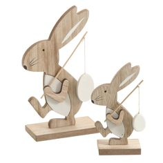 Easter bunny on wooden bunny hat stand wood Easter decoration – # laundry … - Ostern Easter Art, Easter Crafts, Easter Bunny, Easter Decor, Diy Crafts To Do, New Crafts, Arts And Crafts, Wooden Animals, Wood Creations