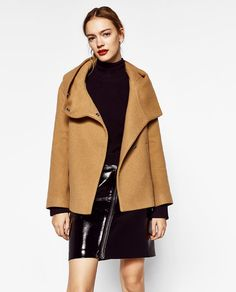 Image 2 of COAT WITH WRAPAROUND COLLAR from Zara