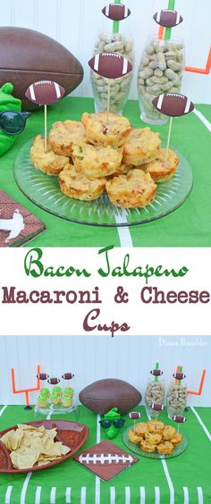 Bacon Jalapeno Macaroni and Cheese Cups Football Party Recipe - This handheld mac & cheese recipe is the perfect addition to any game day celebration.