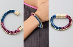 DIY: Holst Lee inspired rope bracelet - The Stripe Rope Jewelry, Jewelry Crafts, Beaded Jewelry, Beaded Bracelets, Rope Bracelets, Bracelet Tutorial, Diy Bracelet, Diy Mothers Day Gifts, Diy Gifts