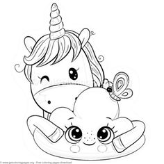 kawaii pusheen cat coloring pages | Party idea | Unicorn ...