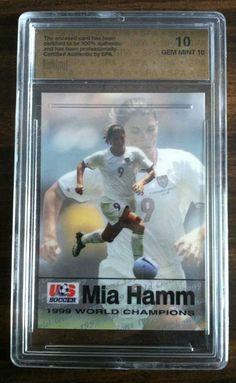 Mia Hamm 1999 World Champion Player Card Gem Mint Us Soccer, Soccer Fans, Usa National Team, Mia Hamm, Player Card, Gem, Champion, Mint, Baseball Cards