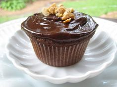 """Peanut Butter Truffle Cupcakes: """"Forget about reading this review --  just go pull the ingredients out and a big carton of milk and get ready for a trip to chocolate peanut butter heaven."""" -justcallmetoni"""