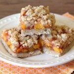 gluten free vegan peach crumb bars | Sarah, Baking Gluten Free