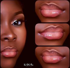 Trendy makeup looks for black women make up lip colors Ideas Dark Skin Makeup, Natural Eye Makeup, Natural Lips, Lip Makeup, Beauty Makeup, Makeup Eraser, Real Beauty, Beauty Nails, Black Girl Makeup