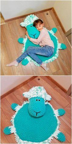 Creative And Interesting DIY Crochet Patterns And Ideas - Diy Rustics , Diy Crochet Patterns, Crochet Mat, Crochet Cushions, Crochet Home, Crochet Crafts, Crochet Dolls, Crochet Projects, Free Crochet, Knitting Patterns