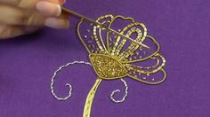 Goldwork embroidery tutorial. Part 5 - Cutwork & finished piece.