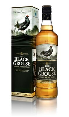 The Black Grouse is a blended Highland scotch whisky. It is relatively inexpensive but a step up from The Famous Grouse with its very present but soft and smoky nose.  The palate is smoky, too, but assertive.  I like it.