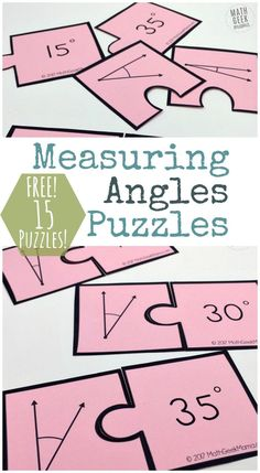 Want a fun and simple way to practice measuring angles with your 4th or 5th grader? They will love this fun set of puzzles! This measuring angles activity provides practice with a protractor and can then be used to sort and classify angles. Includes 15 FREE puzzles…