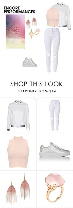 """Exo- Lucky One"" by kpopmvtrends ❤ liked on Polyvore featuring Topshop, WearAll, Prada Sport, Serefina, Goshwara and Kate Spade"