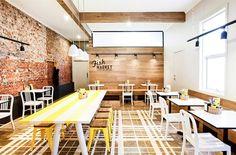 The Fish Market by Colab design studio 1 Interior Designers Melbourne, Restaurant Interior Design, Restaurant Concept, Cafe Restaurant, Seafood Restaurant, Retail Interior, Cafe Interior, Commercial Design, Commercial Interiors