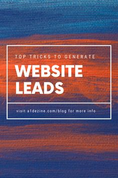 You don't need to spend a giant pile of time constructing a home page that is purpose made to have leads on it. You can make the process easier on.