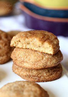 Pumpkin Spice Snickerdoodles..Perfectly spiced for Fall! A soft snickerdoodle loaded with flavor!