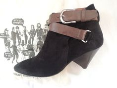 ISABEL MARANT BLACK SUEDE WRAP AROUND ANKLE BOOTS / BOOTIES size 38 #ISABELMARANT #BOOTS www.fullcirclefashion.com