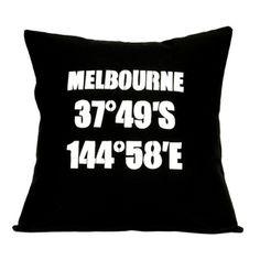 Melbourne Coordinates - Handmade Cushion Cover by Linnea - Swedish Design http://downthatlittlelane.com.au