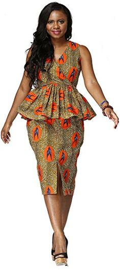 Women African National Costume Suit Printed Shirt #ad
