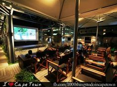 Celebrate the silver screen at Grand Daddy Hotel's Pink Flamingo Cinema. Heated in winter and cooled in summer makes it a great tip. I Cape Town Vintage Airstream, Bar Lounge, Rooftop Bar, Hotel S, Pink Flamingos, Cape Town, Tourism, Cinema, Daddy