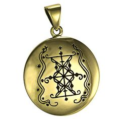 Bronze Papa Damballah Voodoo Loa Veve Pendant  Lwa of Protection ** To view further for this item, visit the image link.