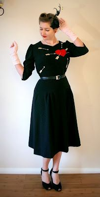 2421 Absolutely gorgeous recreation of a Ginger Rogers dress from 'Carefree' by Charlotte at Tuppence Ha'penny Vintage.