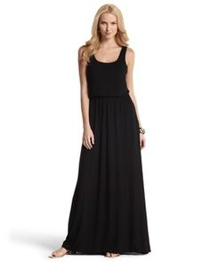 Classic Black Dress...hard to tell from the image, but this one has a blouson top and a skirt with pockets