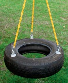everyone needs a tire swing-though it would be best if it were at least twice as large