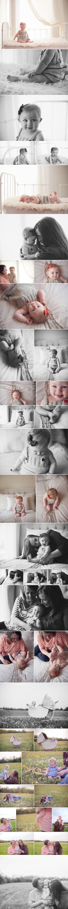 six month baby photos with mother and grandmother outdoors by Raye Law of Arkansas