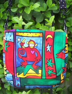 """Jordy Monkey"" One of a kind with contrasting back, lining and pocket."