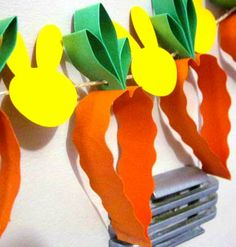 Easter on Stylowi. Easter Projects, Easter Crafts For Kids, Craft Activities For Kids, Summer Crafts, Holiday Crafts, Holiday Fun, First Grade Crafts, Easter Garland, Bunny Party