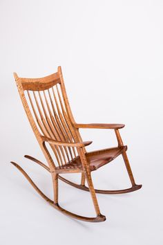 A full view of my first Maloof style rocking chair