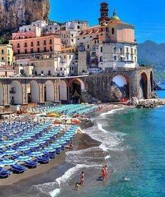 Atrani, Amalfi Coast in Italy.