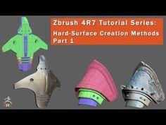 Zbrush 4R7 Tutorial-Hard Surface Creation Methods Part 1 - YouTube