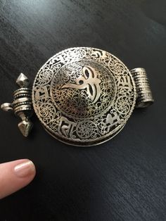 A personal favorite from my Etsy shop https://www.etsy.com/listing/287705443/tibetan-silver-large-vintage-embossed