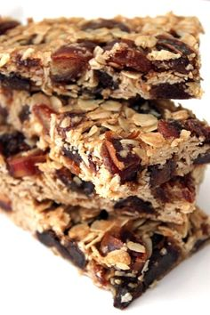 Oatty Date Bars...looks good and promotes healthy eating.
