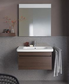DuraStyle Mirror with lighting #DS7267   Duravit