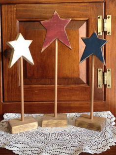 Primitive standing wood stars. $9.99, via Etsy.