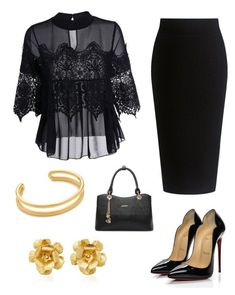 chics by mchlap on Polyvore featuring Theory, Jennifer Behr, A.P.C. and Christian Louboutin