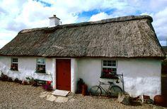 A traditional Irish cottage.