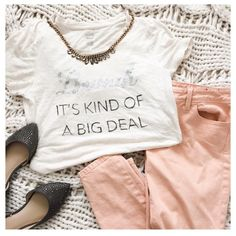 "Aerie Brunch Its Kind of a Big Deal Tee This t-shirt is a light oatmeal color & extremely soft. It has a cute message that says ""Brunch its Kind of a Big Deal""{actual color of item may vary slightly from pics}  *shoulders:15"" *chest:17.5"" *waist:16.5"" *length:26.5"" *material/care:80%viscose20%cotton machine wash *fit:true to size, but fitted so might work for small too  *condition:good no rips/stains   20% off bundles of 3/more items No Trades  NO HOLDS No transactions outside of Poshmark…"