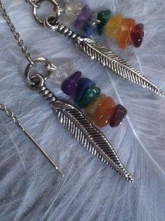 Chakra Angel Healing Thread Earrings by AngelTouchReiki on Etsy, $17.00