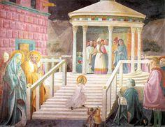 '`mary's` présentation dans le temple', fresques de Paolo Uccello (1397-1475, Italy)