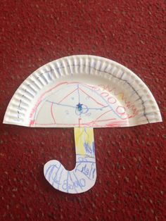 Summer Camp- Paper Plate Umbrellas.