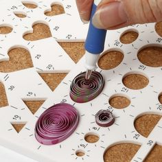 Quilling on a Greeting Card - Creative activities