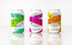 Vocation Brewery and Robot Food have collaborated once more to unleash an   exciting new craft lager range for beer lovers. The design is a bold and   fresh take on craft beer, complete with a bold color palette and   brushstroke textures.